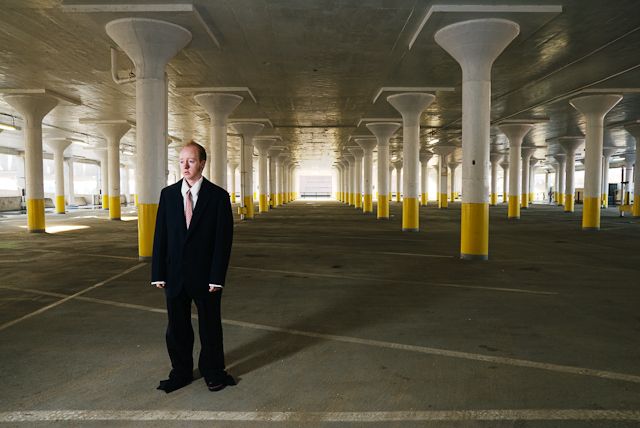 Man in Parking Garage, 2008