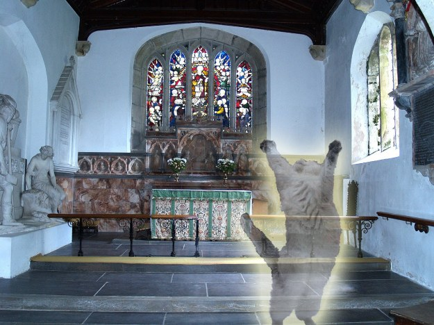 Caernarfonshire, Llandegai Church Altar and Window