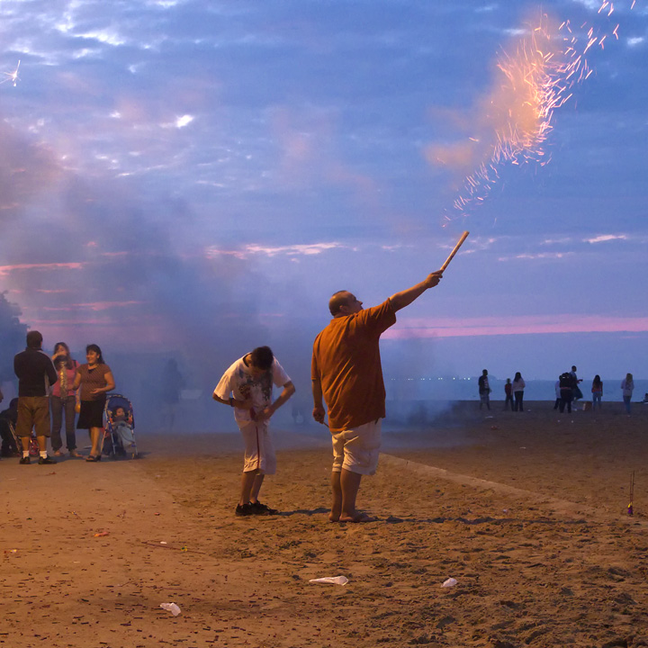 roman candle. loyola beach, chicago il