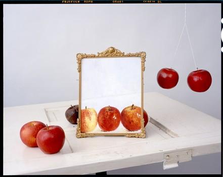 Apples, Painting on Door, 2011