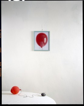 Balloon, Rock on Table with Painting, 2010